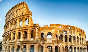 Il Colosseo in una giornata di sole