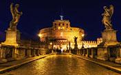 Ponte Sant'Angelo e Castel Sant'Angelo illuminati