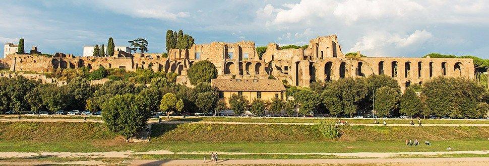 Il Circo Massimo e l'area pedonale sottostante