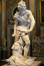 David, Bernini, Galleria Borghese, Roma
