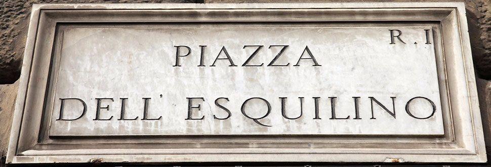 Targa di Piazza dell'Esquilino