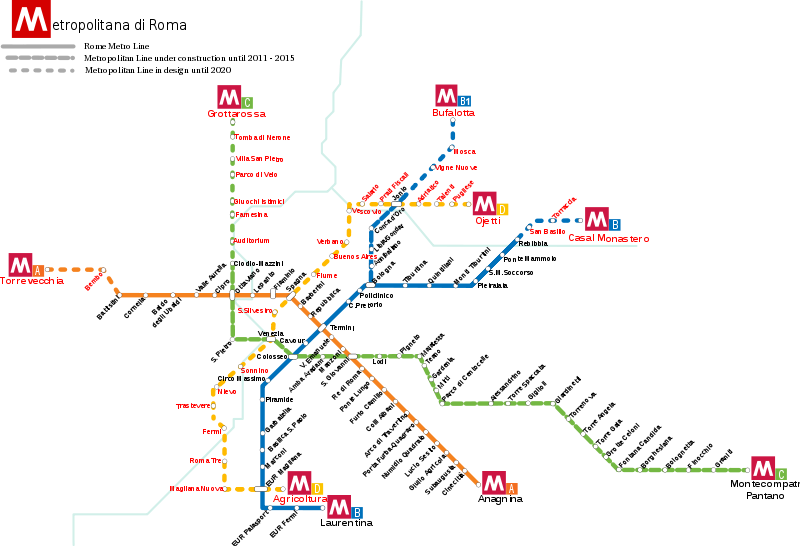 Cartina Metropolitana Roma Pdf.Mappa Metro Di Roma Cartina Della Metropolitana Romabbella